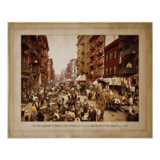 MULBERRY STREET, NYC POSTER