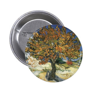 Mulberry Tree by van Gogh Button