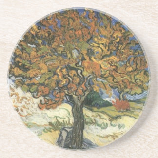 Mulberry Tree by van Gogh Coaster