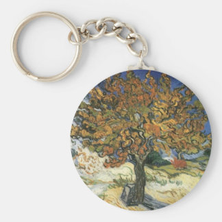 Mulberry Tree by van Gogh Keychain