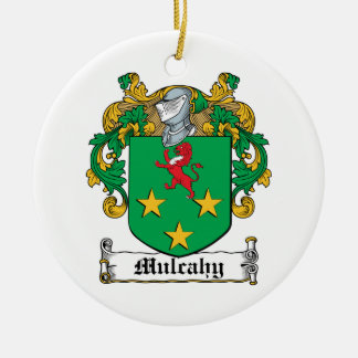 Mulcahy Family Crest Double-Sided Ceramic Round Christmas Ornament