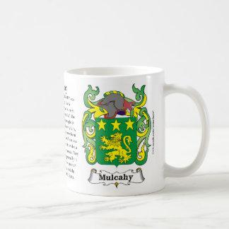 Mulcahy, la historia, el significado y el escudo taza