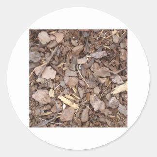 Mulch Round Stickers