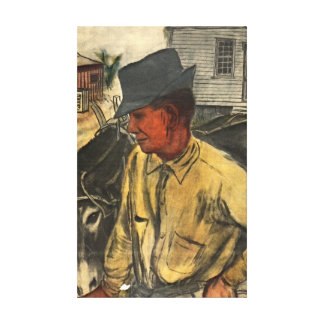 Mule and Plow 1935 Canvas Prints