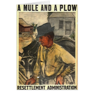 Mule and Plow 1935 Card