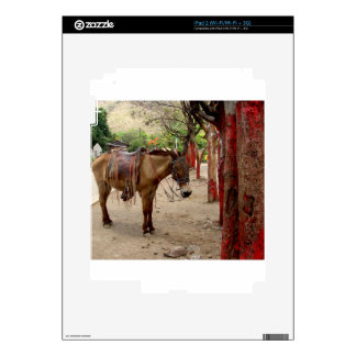 Mule and red poles. decal for iPad 2