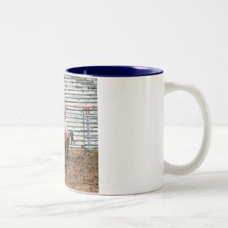 mule at ozark mule days Two-Tone coffee mug