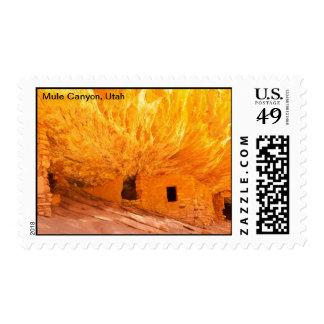 Mule Canyon, Utah Postage