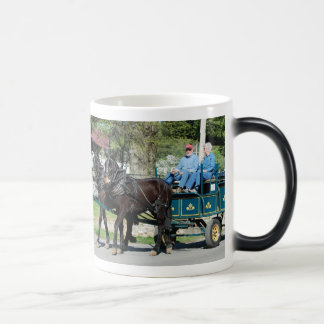 mule day parade in 11 oz magic heat Color-Changing coffee mug