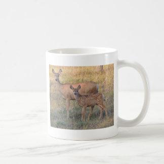 Mule Deer Doe and Fawn Coffee Mug