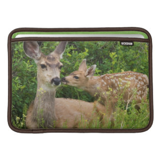 Mule Deer Doe with Fawn 2 MacBook Sleeve