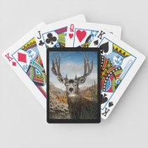 Mule deer Oil Painting Bicycle Playing Cards