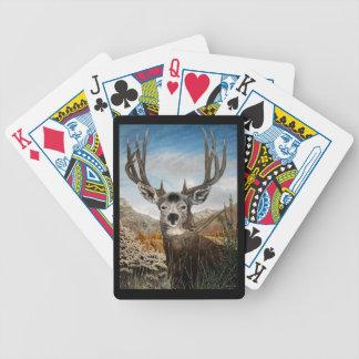 Mule deer Oil Painting Bicycle Playing Cards