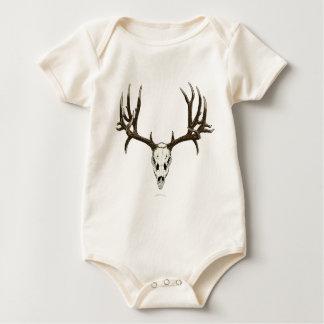 Mule deer skull baby bodysuit