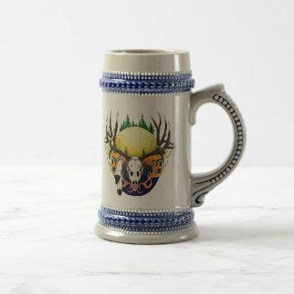 Mule Deer skull Beer Stein
