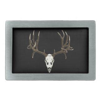 Mule deer skull belt buckle