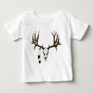 Mule deer skull eagle feather baby T-Shirt
