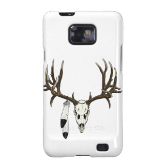 Mule deer skull eagle feather samsung galaxy s2 cover