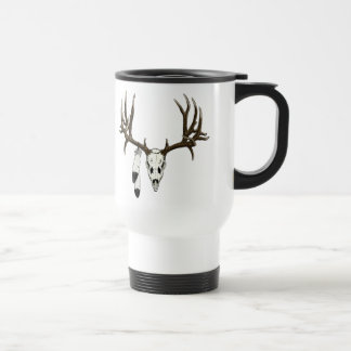 Mule deer skull eagle feather mugs