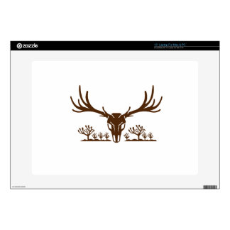 "Mule Deer Skull Joshua Tree Icon 15"" Laptop Skin"