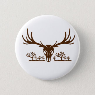 Mule Deer Skull Joshua Tree Icon Button