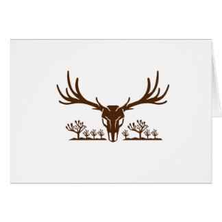 Mule Deer Skull Joshua Tree Icon Card