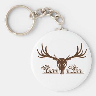 Mule Deer Skull Joshua Tree Icon Keychain