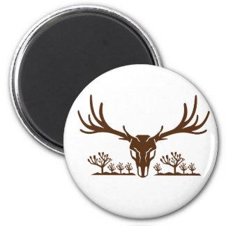 Mule Deer Skull Joshua Tree Icon Magnet