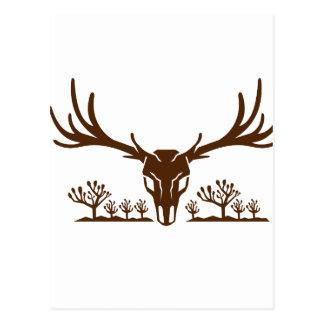 Mule Deer Skull Joshua Tree Icon Postcard
