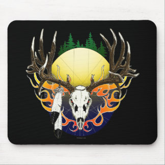 Mule Deer skull Mouse Pad
