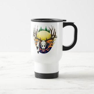 Mule Deer skull Travel Mug