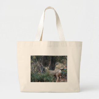 Mule deer spur buck tote bag