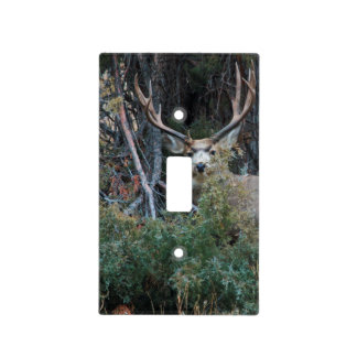 Mule deer spur buck light switch cover