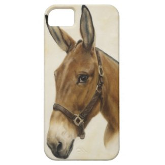 Western Mule iPhone 5 Case featuring art of Cathy Cleveland