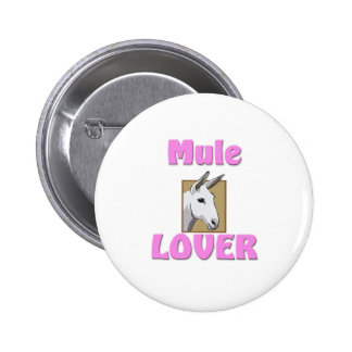 Mule Lover Button