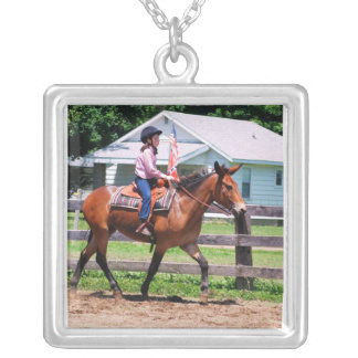 Mule Silver Plated Necklace