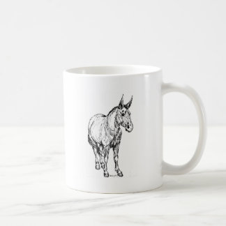 Mule Simple Sketch Classic White Coffee Mug