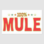 Mule Star Tag Rectangular Stickers