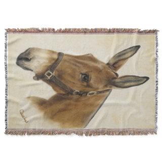 Mule Throw Blanket