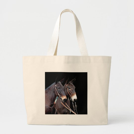 Mule Twosome Large Tote Bag