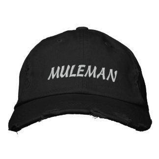 Muleman hat embroidered baseball cap