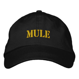 MULES EMBROIDERED BASEBALL HAT