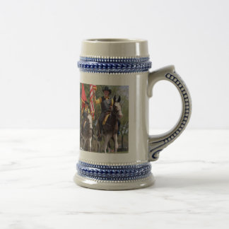 Mules in Mule Day parade 18 Oz Beer Stein