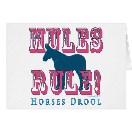 Mules Rule Horses Drool 1 Card