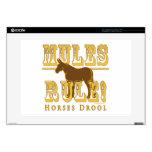 Mules Rule Horses Drool 2 Laptop Skins