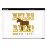 Mules Rule Horses Drool 2 Skin For Laptop