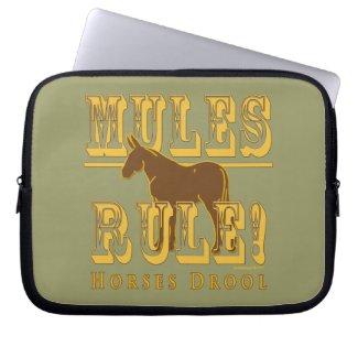 Mules Rule Horses Drool Laptop Sleeves