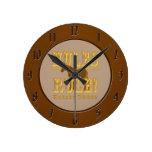 Mules Rule Horses Drool Round Clocks