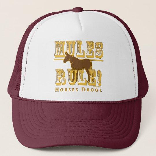 Mules Rule Horses Drool Trucker Hat