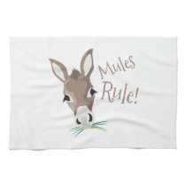 Mules Rule Kitchen Towel
